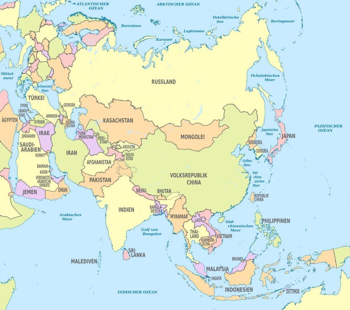 Bahrein Aziji Karta Bahreina Azija Zapadna Azija Azija